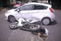 Auto contra moto, el choque más común en Las Varillas