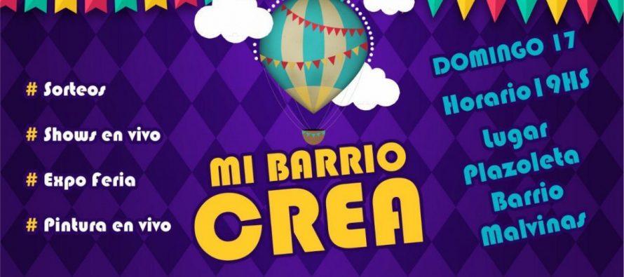 Este domingo,nueva edición de  «Mi Barrio Crea»