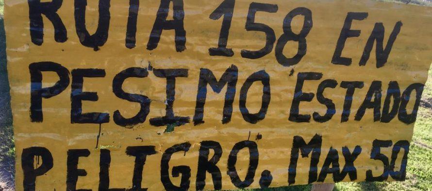 Segunda protesta sobre la Ruta 158