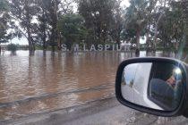 Las copiosas lluvias causaron cortes de ruta y  evacuados en localidades de la región. Las más afectadas El Arañado y Laspiur