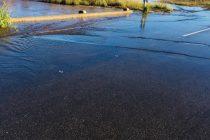 Accidente en la Ruta 3 por agua en la calzada