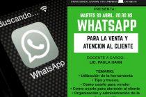 Capacitación sobre uso comercial del Whatsap en el CeCIP