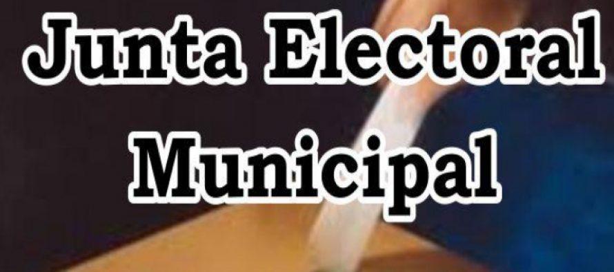 La Junta Electoral Municipal difundió el cronograma para el  proceso electoral del 15 de septiembre