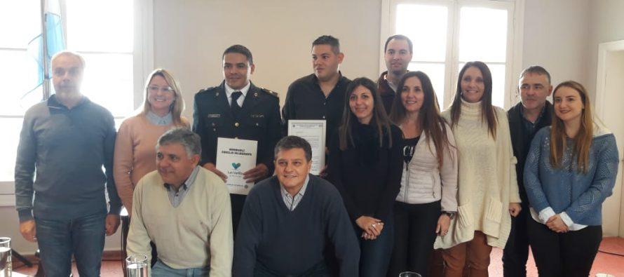 Distinguieron al Oficial Subinspector Oronado por una acción que salvó la vida de un niño