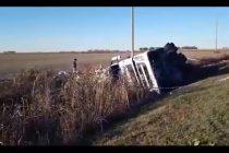 Otro accidente en la Ruta 158. Un herido