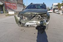 Fuerte choque en Av Centenario y Córdoba