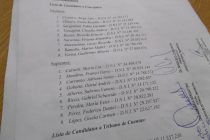 Lista de candidatos a concejales y tribunos de cuentas de la Alianza Todos Juntos Por Las Varillas