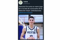 """El """"Cebolla"""" Bolmaro fue convocado para integrar la Selección Nacional de mayores que jugará el Mundial de Básquetbol en China"""