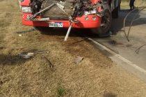 Choque  de camiones cerca de El Fortín