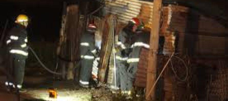 Se incendió precaria vivienda. Pérdidas totales.