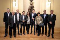 Chiocarello acompañó a Manuel Calvo en la entrega de diplomas a las autoridades electas el 12 de mayo