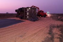 Un accidente sobre Ruta 3 obligó a cortar la vía provincial. Sólo heridas leves sufrió un camionero