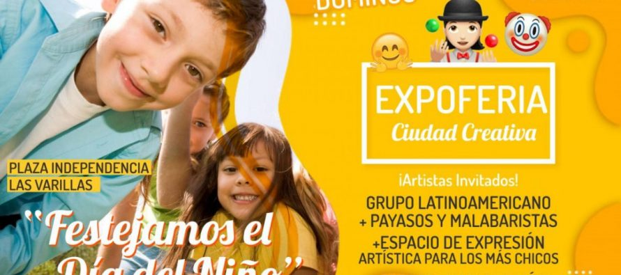 Expo Feria en Plaza Independencia por el Día del Niño