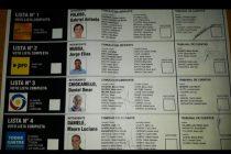 Así será finalmente la Boleta Única con que se votará en la elección del 15 de Septiembre