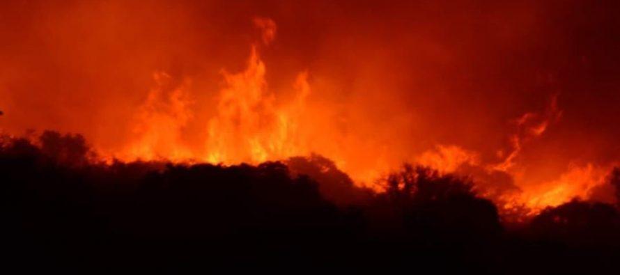 Bomberos de Las Varillas viajan rumbo a La Cumbre para colaborar en la extinción del incendio en la zona serrana