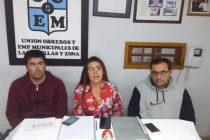 El SUOEM ratificó su postura en el diferendo que mantiene con el Municipio