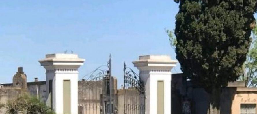Investigan robo de placas en el Cementerio  de Las Varas