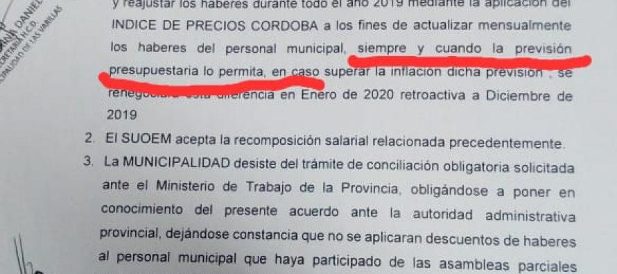 Esta es el acta con la cual el municipio defiende su postura ante el conflicto con el Suoem