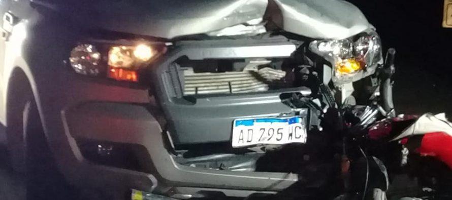 Dos motociclistas heridos por un choque frontal en cercanías de El Fortín