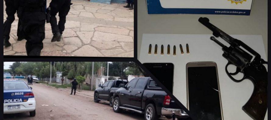Detuvieron a dos prófugos del tiroteo de octubre en Las Varillas y secuestraron un arma, drogas y una moto