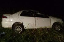 Volcó un auto en la Ruta 158. Una persona herida