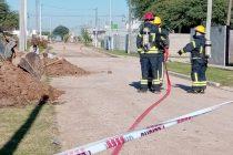 Bomberos fueron convocados por un escape de gas en calle Alem