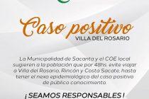 Reforzaron medidas preventivas  en Sacanta a partir de un contagio de coronavirus en Villa del Rosario