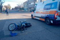 Accidente en el centro de la ciudad. Sería sin consecuencias graves