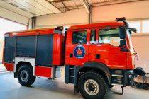 Los bomberos estrenaron camión ayer en El Arañado
