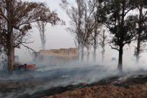 Aclaración sobre el incendio en un campo
