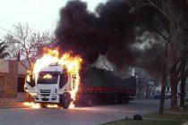 Ardió un camión en La Playosa