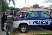 Choque en San Martín y Avellaneda: Motociclista habría cruzado en rojo, resultó con lesiones leves