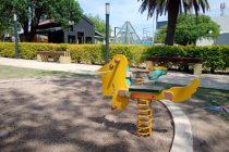 Reponen juegos infantiles en la Plazoleta del Bicentenario