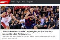 Leandro Bolmaro es NBA, repercusiones en los medios del país y el mundo