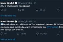 Emanuel Ginóbili se rindió a los pies de Leandro Bolmaro