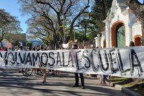 Nueva marcha en Córdoba para pedir el retorno  de las clases presenciales