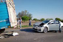 Tres heridos en un múltiple choque en la ruta 158 en cercanías de Trinchera