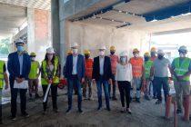 El vicegobernador Calvo recorrió la obra de la Escuela ProA