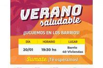 Continúa hoy el programa  Verano Saludable en el Centro Cívico y en B° 40 Viviendas