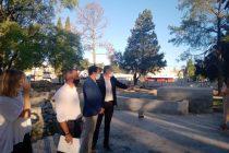 Martin Gill destacó los avances de la obra de la Plaza San Martín