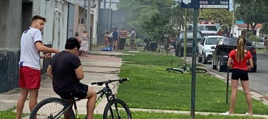 Bomberos sofocaron  incendio en un taller de chapa y pintura