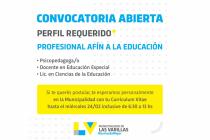 La municipalidad realiza una convocatoria para vacante laboral en el área educación