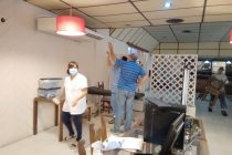 Preparativos en el Gran Hotel para vacunación de mayores de 70 años