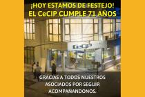 El CeCIP cumple hoy 71 años