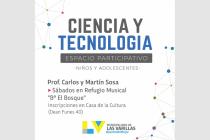 Abren las inscripciones para el espacio participativo de Ciencia y Tecnología para niños y jóvenes
