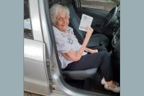 Con sus 103 años María Vanini de Lenta se vacunó contra el covid