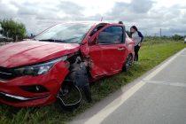 Un hombre herido fue el saldo de un accidente en la Ruta 158 en el acceso sur de Las Varillas