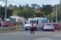 Accidente de tránsito con lesiones leves en la rotonda de la ciudad