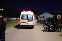 Accidente entre moto y bicicleta frente a la DAS