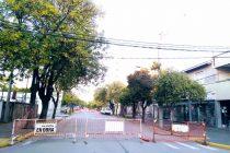 Cerraron temporalmente un tramo de calle España